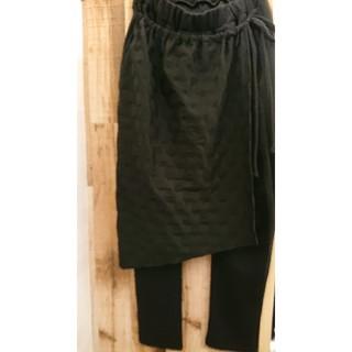 アンティカ ドット スカート 黒 サルエルパンツ