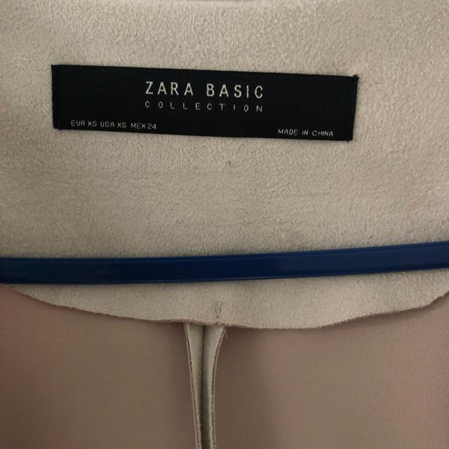ZARA(ザラ)の最終値下げ ZARA フェイクスエード ノーカラー  レディースのジャケット/アウター(ノーカラージャケット)の商品写真