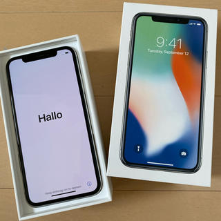 アイフォーン(iPhone)のiPhone X Silver 256 GB SIMフリー(スマートフォン本体)