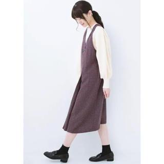 ハコ(haco!)のhaco! 千鳥柄 ジャンパースカート(ひざ丈ワンピース)
