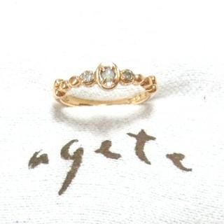 アガット(agete)のアガット オパールとダイヤモンドのK10ピンキーリング 3号(リング(指輪))