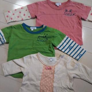 サンカンシオン(3can4on)の3can4on Tシャツ3枚セット⭐️長袖2枚七分袖1枚のセット 80cm(Tシャツ)