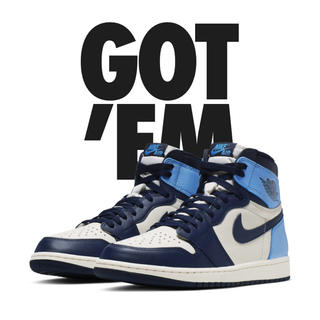 NIKE - AIR JORDAN 1  RETRO HIGH OG OBSIDIAN