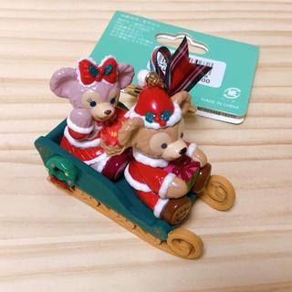 Disney - ダッフィー&シェリーメイ キーホルダー ディズニークリスマス