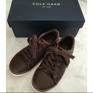 コールハーン(Cole Haan)のコールハーン キッズ レザースニーカー 希少  19cm ブラウン(スニーカー)