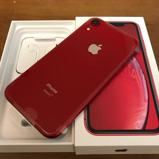 新品 未使用 iPhone XR 128 GB RED SIMフリー
