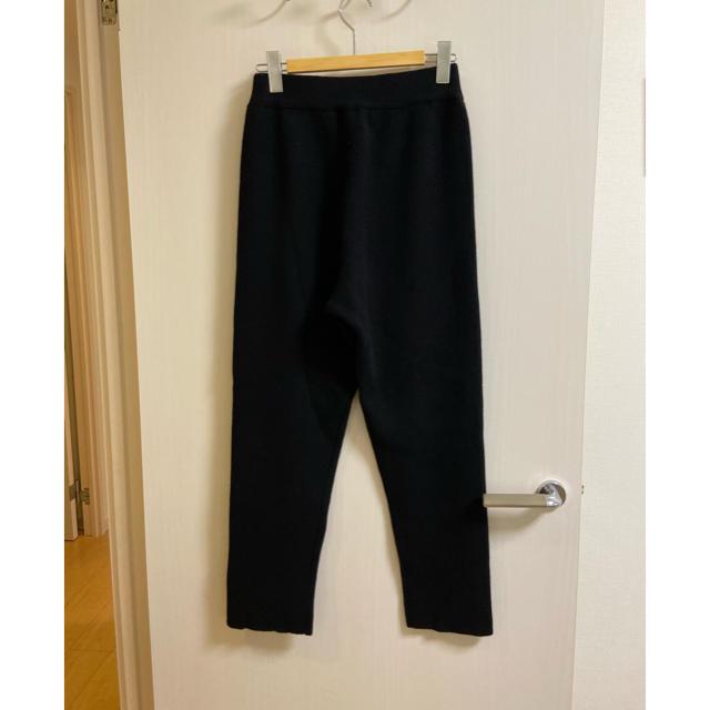 DEUXIEME CLASSE(ドゥーズィエムクラス)の今期☆yonfa ヨンファ☆cashmere wool pants 黒 M レディースのパンツ(カジュアルパンツ)の商品写真