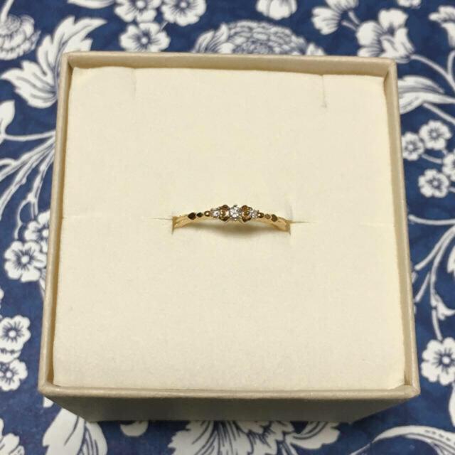 agete(アガット)のアガット  K18ダイヤリング レディースのアクセサリー(リング(指輪))の商品写真