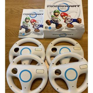 Wii - マリオカートWiiとハンドル4個セット