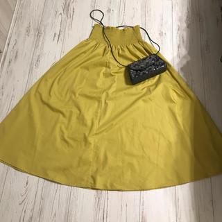 GU - からし色♡秋のマキシスカート