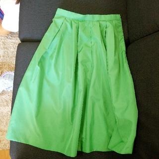 ジャスグリッティー(JUSGLITTY)のJUSGLITTY グリーン スカート(ひざ丈スカート)