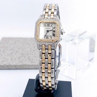 Cartier - 【仕上済】カルティエ パンテール SM コンビ ダイヤ レディース 腕時計