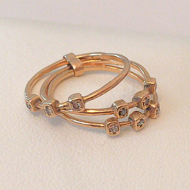 ikuzim214さま専用◎noguchi bijoux 3連 ピンキーリング レディースのアクセサリー(リング(指輪))の商品写真