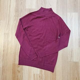 ムジルシリョウヒン(MUJI (無印良品))の新品 未使用 無印良品 ボルドー セーター ニット(ニット/セーター)