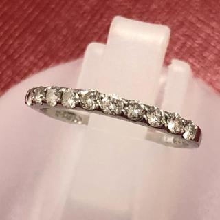 ダイヤモンドリング 重ね付け ダイヤ リング 指輪 ハーフエタニティ pt950