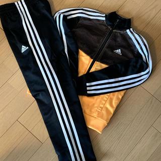 adidas - adidas アディダス ジャージ上下セット 黒蛍光オレンジメッシュ130