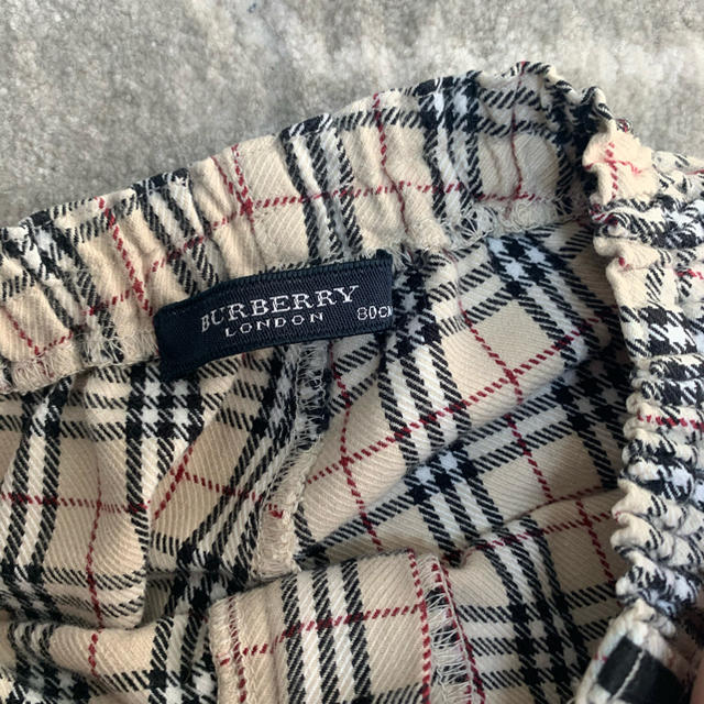 BURBERRY(バーバリー)の美品 バーバリー パンツ 80 キッズ/ベビー/マタニティのベビー服(~85cm)(パンツ)の商品写真