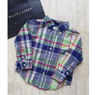ラルフローレン(Ralph Lauren)の【RALPHLAUREN】青のチェックシャツ 90(カーディガン)