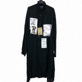 ヨウジヤマモト(Yohji Yamamoto)の新作新品 ヨウジヤマモト パッチロングシャツ 3(シャツ)