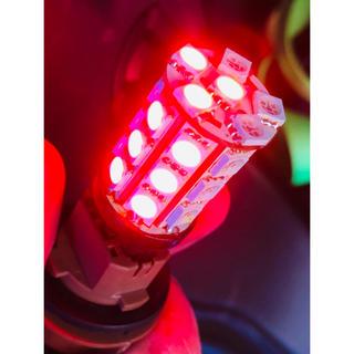 T20ダブルLED ストップランプ用LED T20Wレッド 二個セット