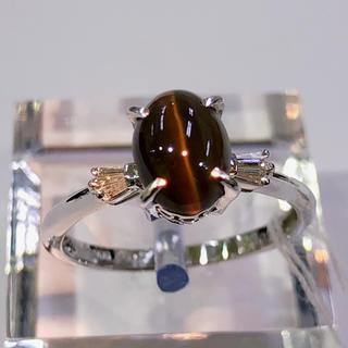 PT900 シリマナイトキャッツアイ リング(リング(指輪))