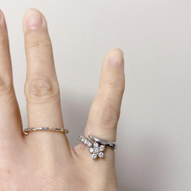 PonteVecchio(ポンテヴェキオ)のk18 お花の指輪 レディースのアクセサリー(リング(指輪))の商品写真