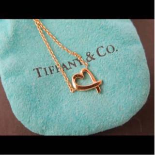 Tiffany & Co. - ティファニー オープンハート ネックレス k18