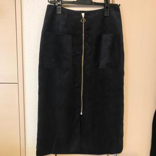 ドゥアルシーヴ(Doux archives)のコーデュロイフロントチャックスカート♪(ロングスカート)