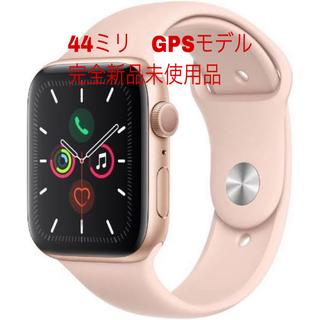 アップルウォッチ(Apple Watch)のApple Watch Series 5 GPS 44mm ゴールドアルミニウム(その他)