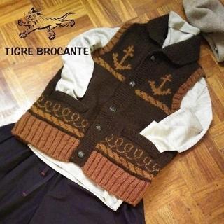 ティグルブロカンテ(TIGRE BROCANTE)のティグルブロカンテ✨TIGRE BROCANTE カウチン ニット ベスト(ベスト/ジレ)