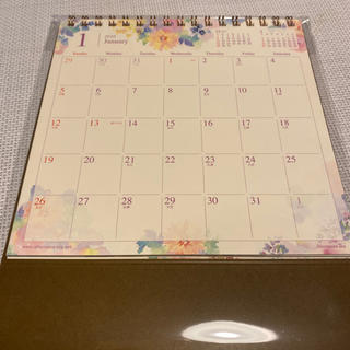アフタヌーンティー(AfternoonTea)の【フミニャ様専用】フラワー卓上カレンダー(カレンダー/スケジュール)