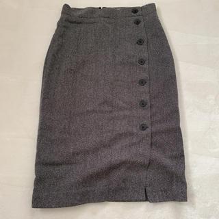H&M - H&M 秋冬 ツイード ボタン付き タイトスカート デニムスカート
