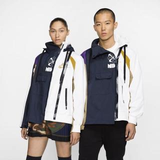 サカイ(sacai)のsacai NIKE DOUBLE ZIP JACKET XL 紫 国内正規品(ナイロンジャケット)