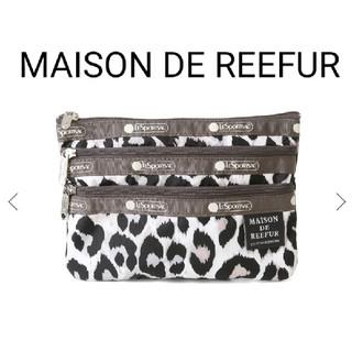 メゾンドリーファー(Maison de Reefur)の新品♡メゾンドリーファー レスポ Three Zip Cosmetic(ポーチ)