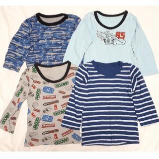 Disney - 長袖肌着 カーズ等 4枚セット インナーシャツ  100