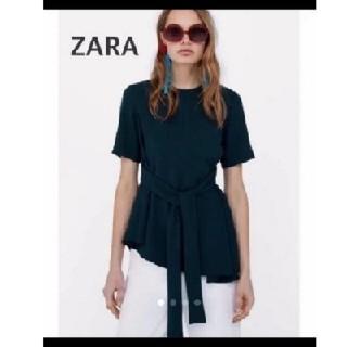 ザラ(ZARA)のZARA ザラ リボン トップス(カットソー(半袖/袖なし))