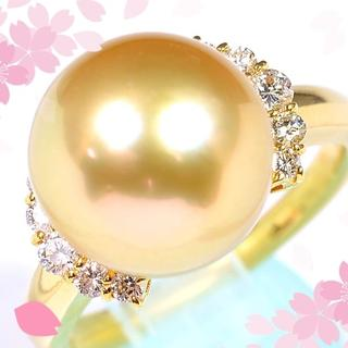 K18南洋ゴールド白蝶真珠/ダイヤモンドリング PM004PT008(リング(指輪))