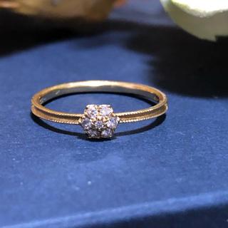 アーカー(AHKAH)のAHKAH K18 ダイヤモンド アネモネ リング(リング(指輪))