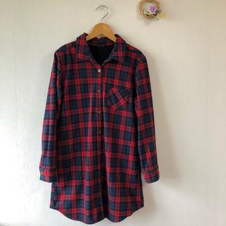 しまむら - しまむら♡チェックロングシャツジャケット