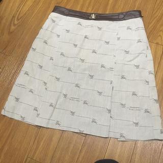 BURBERRY BLUE LABEL - 【希少】バーバリーブルーレーベル モノグラム ホースマーク スカート