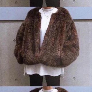 エンフォルド(ENFOLD)のCLANE ファー ジャケット コート(毛皮/ファーコート)