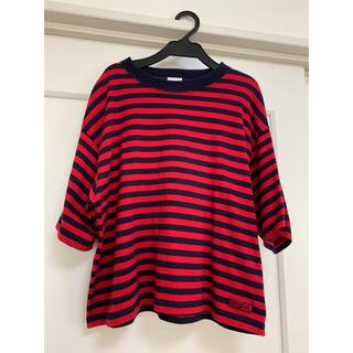 エックスガール(X-girl)のxgirlボーダーTシャツ(Tシャツ(半袖/袖なし))