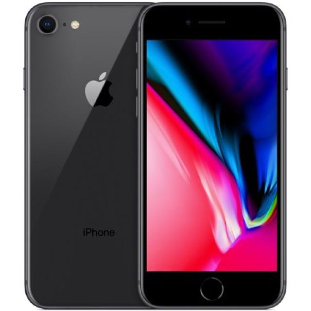 iPhone(アイフォーン)の【新品未使用】iPhone8 64GB 黒 SIMフリー ① スマホ/家電/カメラのスマートフォン/携帯電話(スマートフォン本体)の商品写真