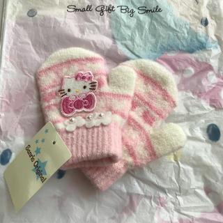 ハローキティ(ハローキティ)の新品 キティ 手袋 子供用SS 2歳(手袋)