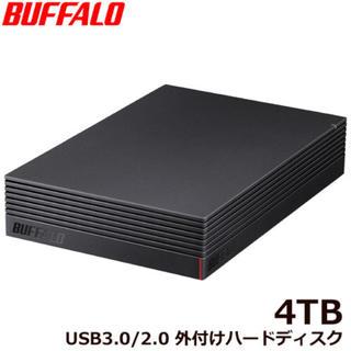 Buffalo - 【新品-4TB】USB接続 外付HDD PC&TV用 4TB