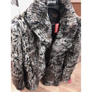Supreme - 2017AW Supreme Schott Fur Peacoat Leopar