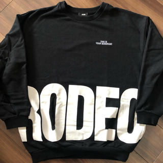 RODEO CROWNS WIDE BOWL - RCWB ラウンドロゴスウェット ブラック