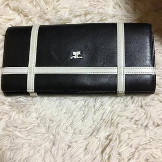 クレージュ(Courreges)のコールドクレージュ 長財布 黒(財布)
