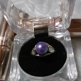 【最終値下げ】紫色の真珠風リング(リング(指輪))