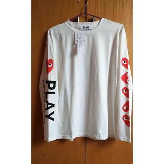 PLAY CDG スウェット ホワイト(Tシャツ/カットソー(七分/長袖))